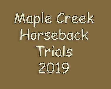 Maple Creek Horseback Cow Dog Trial 2019