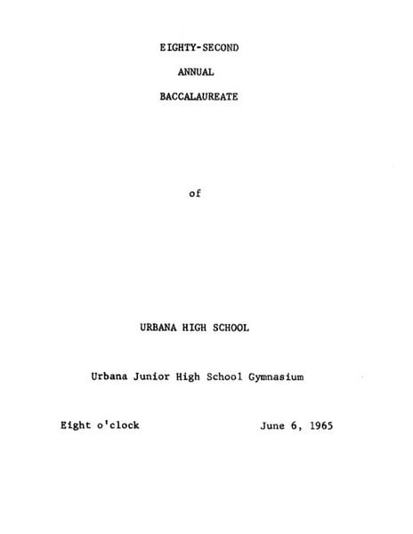 Commencement 1965
