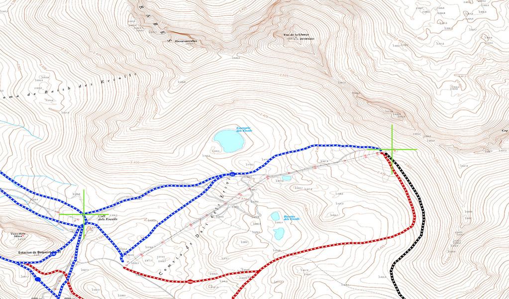 Ejemplo mapa de curvas para conocer altura pistas