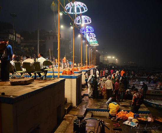 Night Time Rituals in Varanasi, India