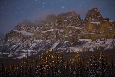 """Frigid Fortress"" IV  Castle Mountain, Banff National Park."
