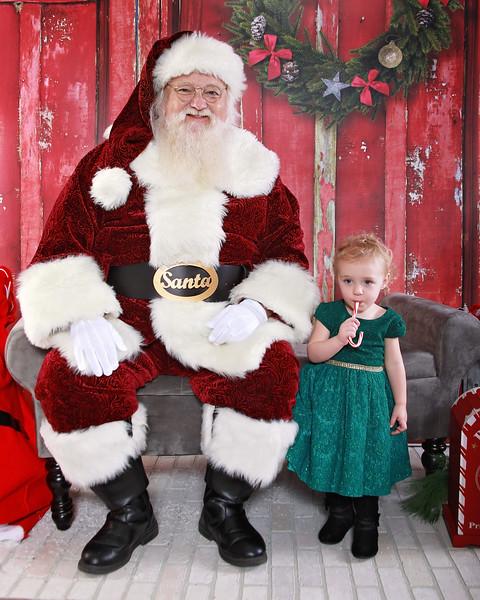 Gracie, Paisley, & Santa