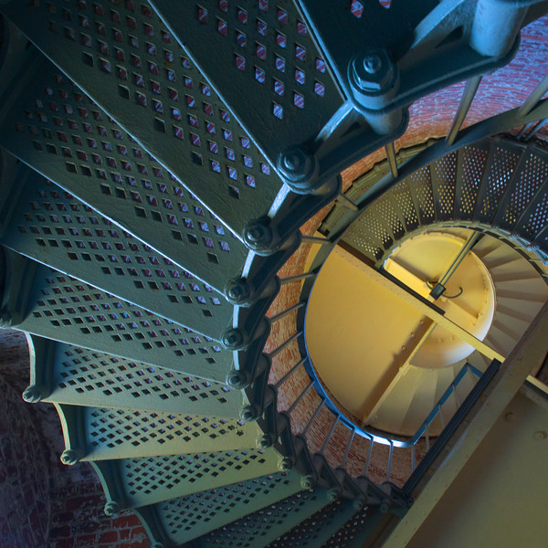 Architectural fun in Cape Blanco lighthouse