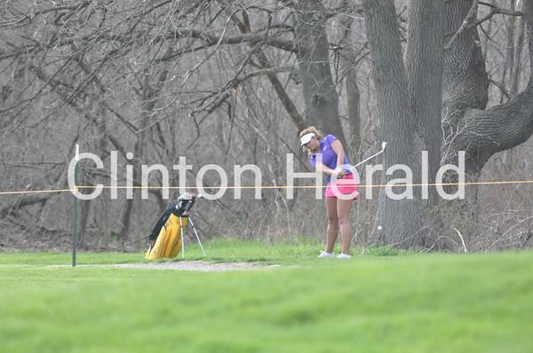 Central DeWitt at Clinton girls golf (April 26, 2013)