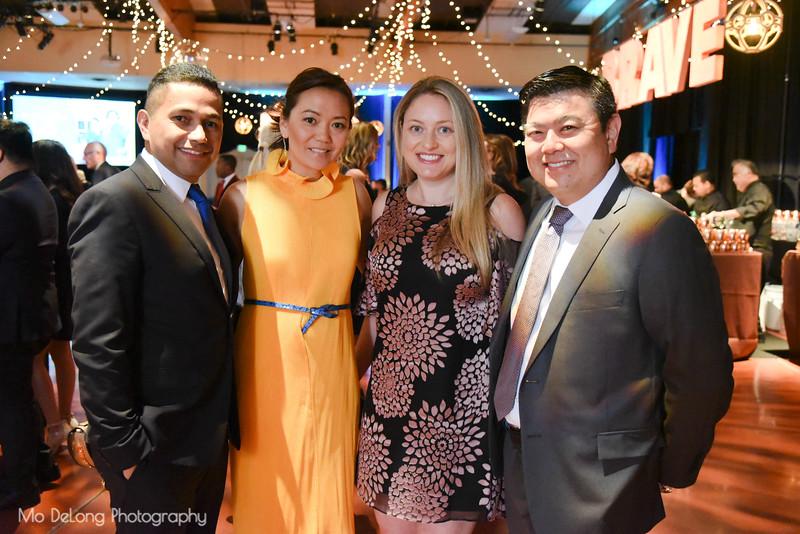 Saul Peña, Charmaine Chow, and Jill and Ryan Utsumi