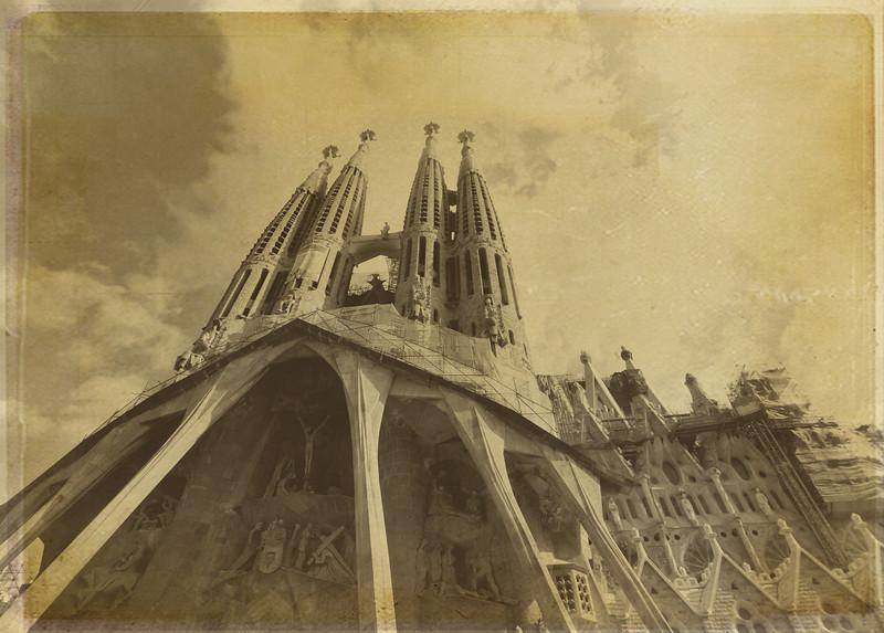 Vintage Sagrada Familia
