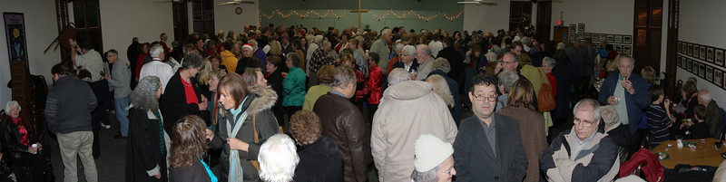 The after performance reception was packed each night
