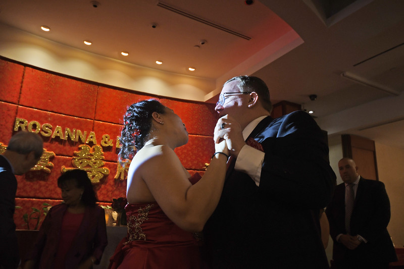 The wedding of David and Rosanna Docherty at the Asian Jewels Seafood Restaurant on May 27, 2018 in Flushing, Queens, New York.