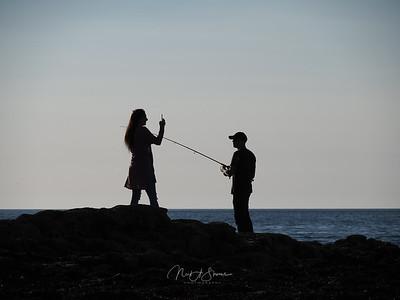 The posing fisherman
