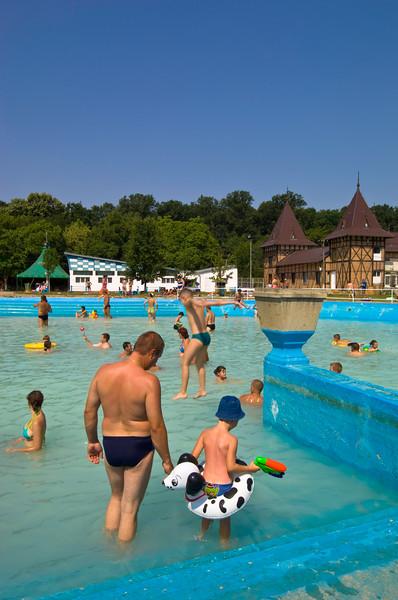 Thermal pool in Baile Felix, The Banat, Romania
