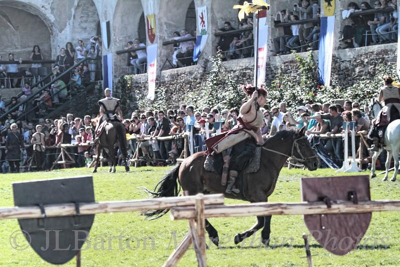 """""""Mongolian"""" riders (trained in Austria) Ritterturnier 2012 Rosenburg Medieval Festival"""