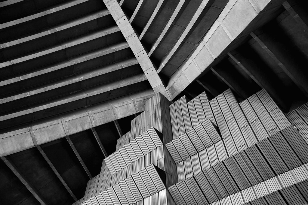 . A plain brush box timber wall and concrete ceiling of the exterior of the concert hall at the Sydney Opera House on October 17, 2013 in Sydney, Australia.   (Photo by Cameron Spencer/Getty Images)