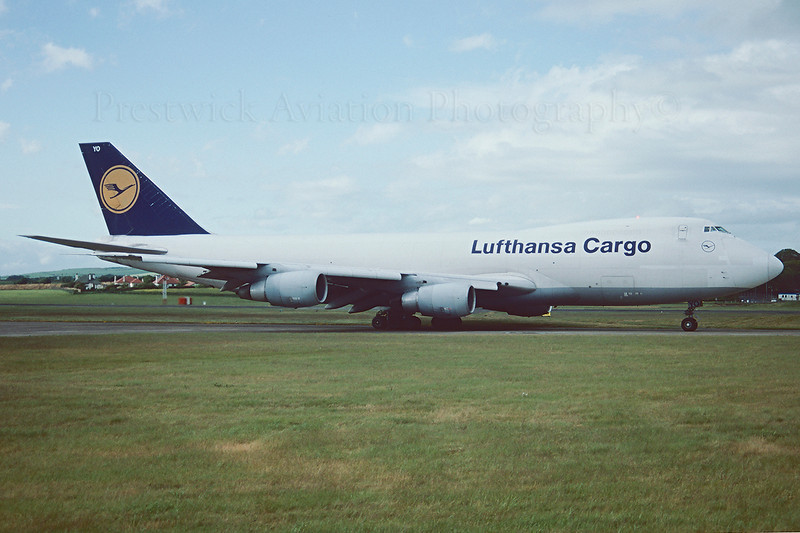 D-ABYO. Boeing 747-230F/SCD. Lufthansa Cargo. Prestwick. May. 1994.