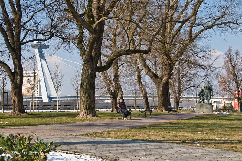 Waterfront park by the Danube in Bratislava