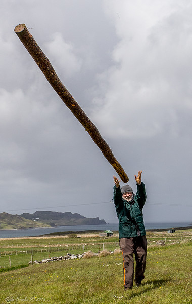 John in practice for the Highland Games   Scotland Summer 2015  Judie Brooks