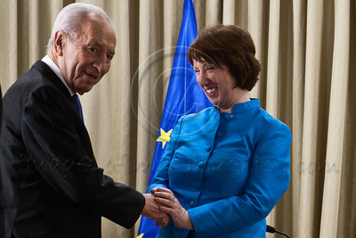20121024 Israeli President Peres meets EU High Representative Ashton