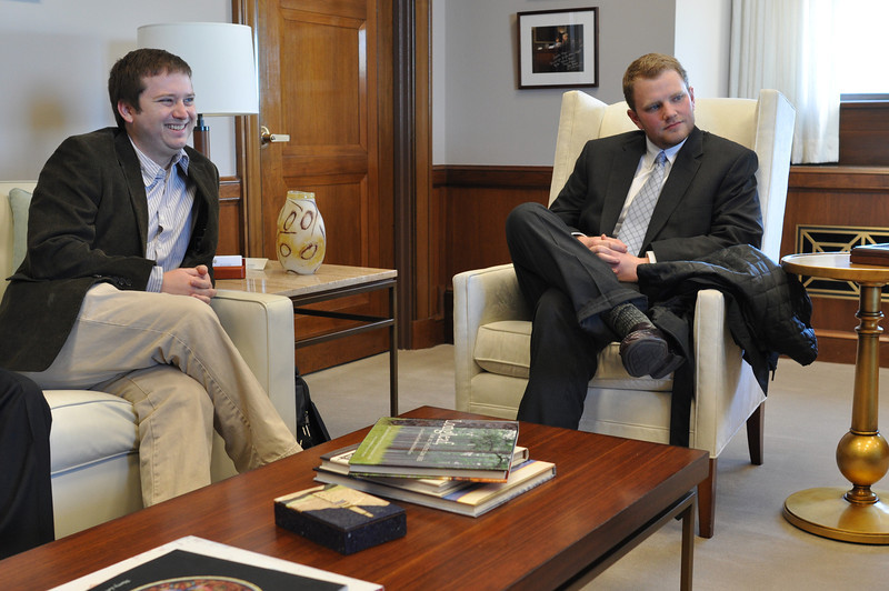 Dr. Ben Gaskins & Tyler Sain in NC Senator Kay Hagan's office