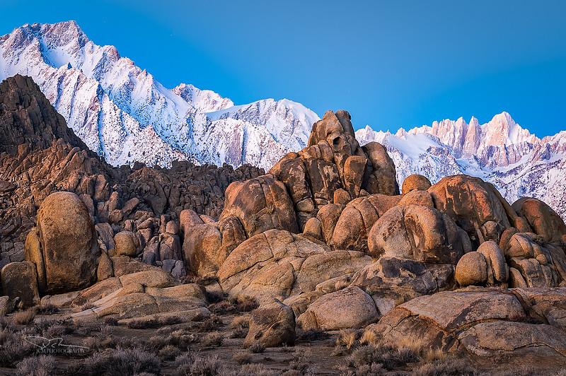 Sierra Sunrise - Lone Pine Peak, Mt Whiney and the Teddy Bear