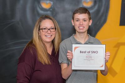 Tim Cohrs SNO Award w/ Joanie Gill
