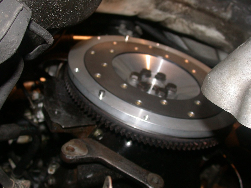 flywheel bolted up