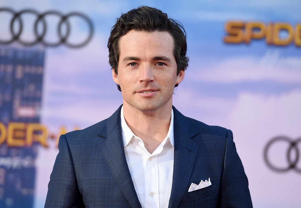 """. Ian Harding arrives at the Los Angeles premiere of \""""Spider-Man: Homecoming\"""" at the TCL Chinese Theatre on Wednesday, June 28, 2017. (Photo by Jordan Strauss/Invision/AP)"""