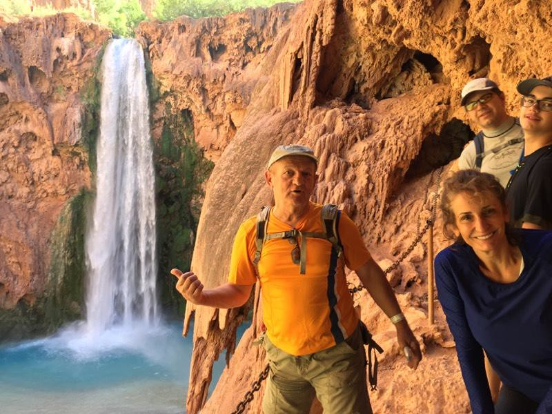 Approaching Mooney Falls - 210 ft (64 m) 2.25 miles from Supai Village