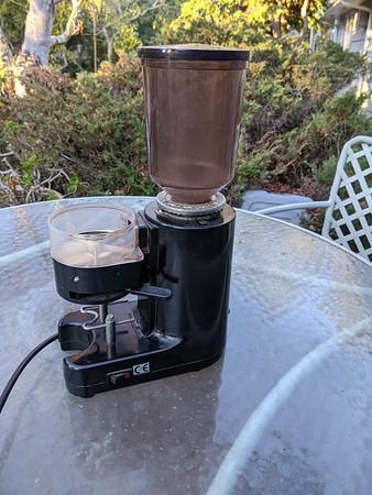 Old espresso grinder