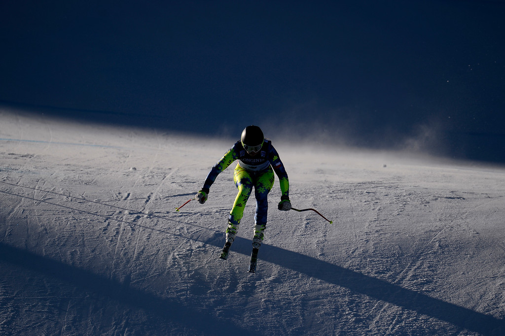 . BEAVER CREEK, CO - FEBRUARY 09: Noelle Barahona of Chile competes during the men\'s alpine combined final. FIS Alpine World Ski Championships 2015 on Monday, February 9, 2015. (Photo by AAron Ontiveroz/The Denver Post)