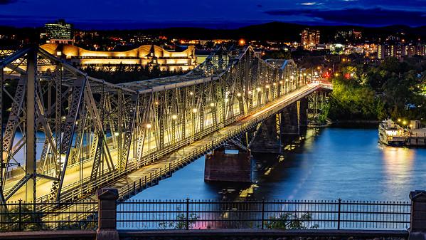Alexandria Bridge Lights Up