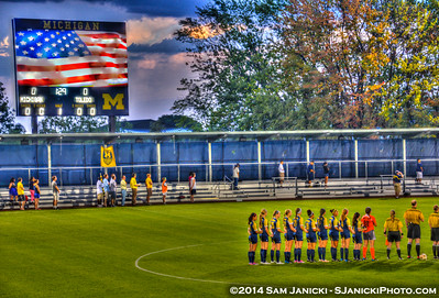 Stormy 1st Half from UM Women's Soccer Vs Toledo 9-5-14