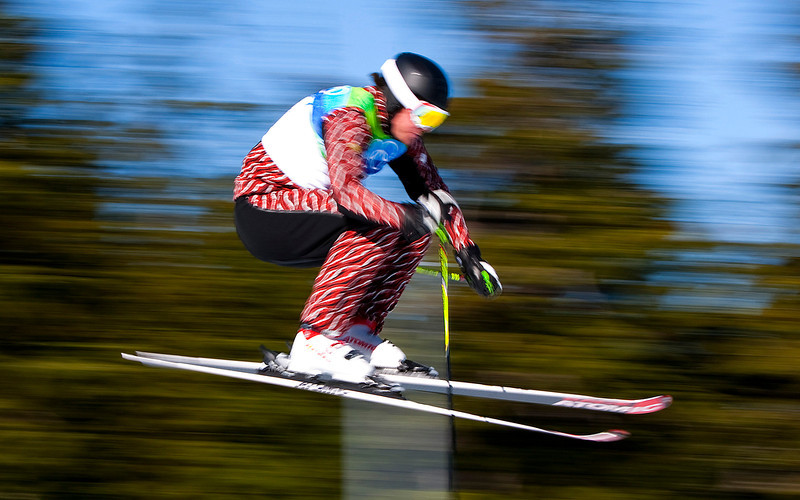 . Christopher Del Bosco of Canada clears a jump during the men\'s ski cross qualifications at Cypress Mountain in Vancouver, British Columbia, Sunday February 21, 2010, at the 2010 Vancouver Olympic Winter Games. (AP Photo/The Canadian Press, Sean Kilpatrick)