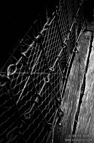 Metal Grating   Black and White Photography by Wayne Heim