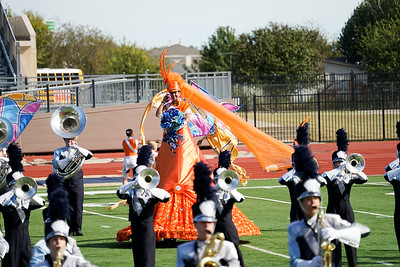 Wakeland Band at UIL Area Marching Contest, Oct. 28, 2017
