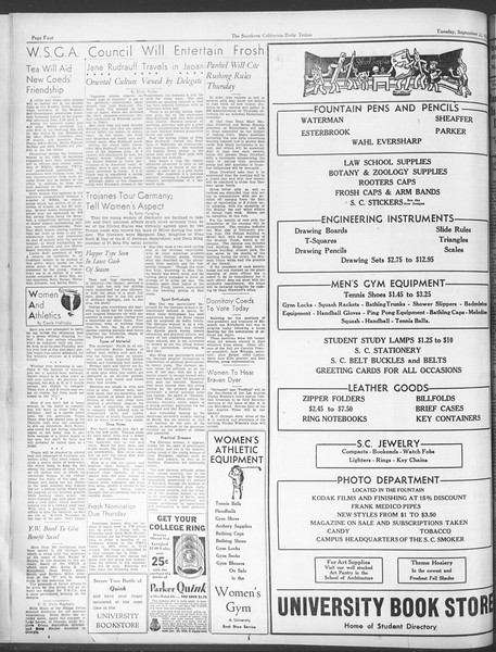 Daily Trojan, Vol. 28, No. 3, September 22, 1936