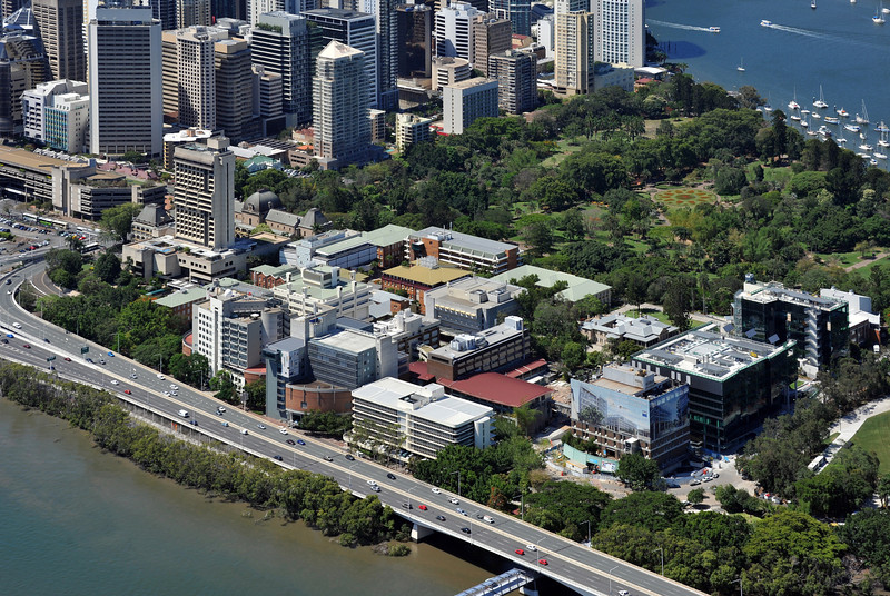 View of QUT Gardens Point campus