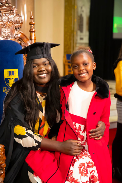 01/11/2019. Waterford Institute of Technology (WIT) Conferring Ceremonies. Pictured are Fran Masombo with her sister Vimbai from Waterford. Picture: Patrick Browne