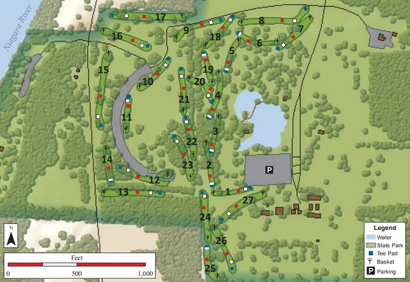 Joseph Davis State Park (Disk Golf Course Map)
