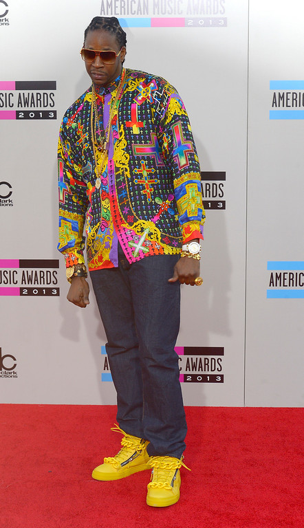 . 2 Chainz arrives to the American Music Awards  at the Nokia Theatre in Los Angeles, California on Sunday November 24, 2013 (Photo by Andy Holzman / Los Angeles Daily News)
