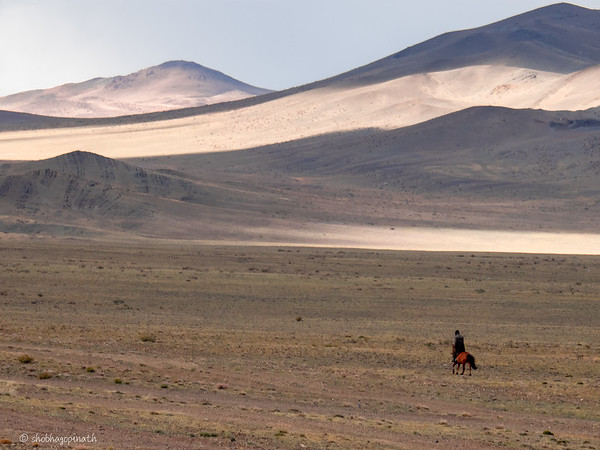 Lone Horseman - Altai Mountains