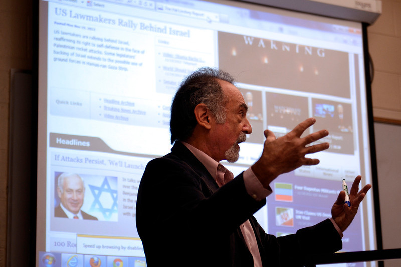 ". Stuart Charm, PhD, Professor of Religion in the Dept. of Philosophy and Religion at Rutgers-Camden uses current events in his classroom on Nov. 19, 2012.  Charm decided to teach a course on the end of the world this semester, he knew he had a compelling hook: the Dec. 21 conclusion of the ""Long Count\"" Mayan calendar that doomsday believers have latched on to as proof that time will end. But Charm had no idea what the next few months would bring: the cataclysmic Hurricane Sandy, a fiscal cliff some have dubbed \""debtmageddon,\"" and an intensifying conflict involving Israel, the place where Christian end-time theorists believe the apocalypse will commence. (AP Photo/The Philadelphia Inquirer, Tom Gralish)"