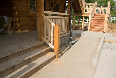 Daniel Boone Log Homes - Stairs and Ramp