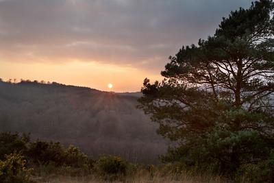 2018 - January sunset over Ashdown 010