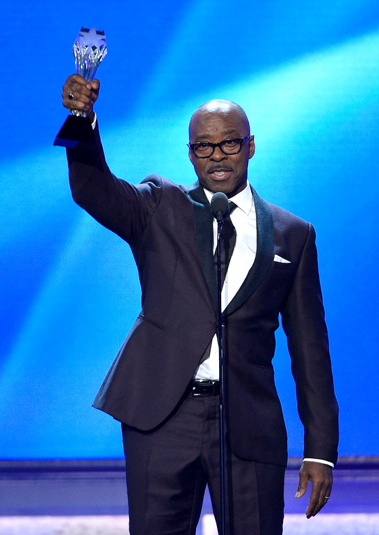 """. Courtney B. Vance accepts the award for best actor in a movie made for television or limited series for \""""The People v. O.J. Simpson: American Crime Story,\"""" at the 22nd annual Critics\' Choice Awards at the Barker Hangar on Sunday, Dec. 11, 2016, in Santa Monica, Calif. (Photo by Chris Pizzello/Invision/AP)"""