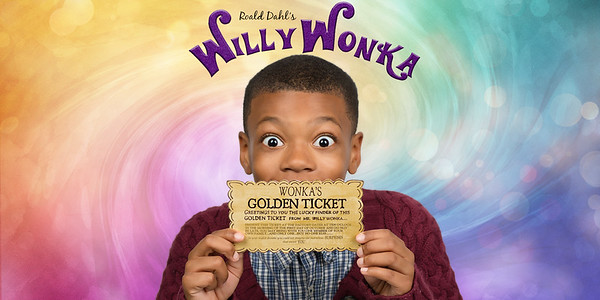 Willy Wonka Banner golden ticket no logo