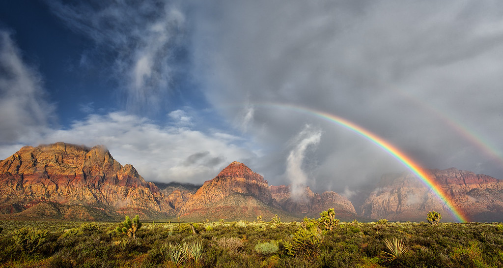 Double Rainbow Over Rainbow Mountain