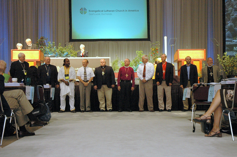 ELCA Bishops are acknowledged for leadership in their first Churchwide Assembly.
