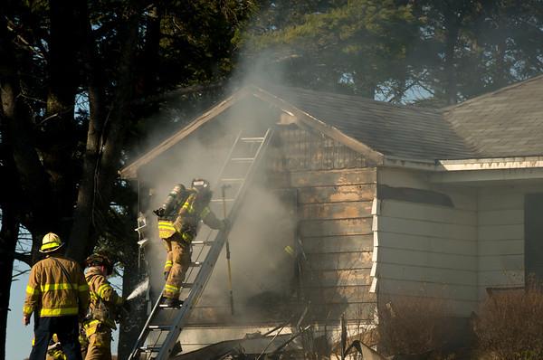Burlington Residential Fire on Middleton Rd. - Nov. 17, 2011