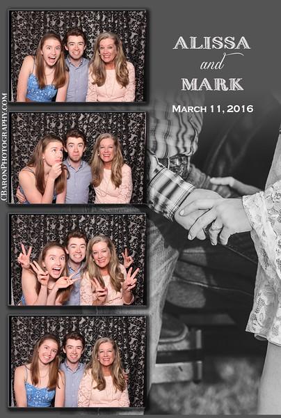 Alissa + Mark = Swanky Photobooth