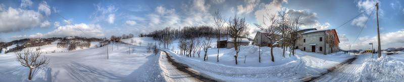 Winter Landscape - Casina, Reggio Emilia, Italy - February 5, 2012