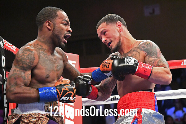 Bout #9:  Yuandale Evans, Cleveland, OH  vs  Luis Rosa Jr., New Haven, CT  WBC CONTIENTAL AMERICAS FEATHERWEIGHT CHAMPIONSHIP
